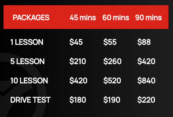 Vicky Driving School - Prices